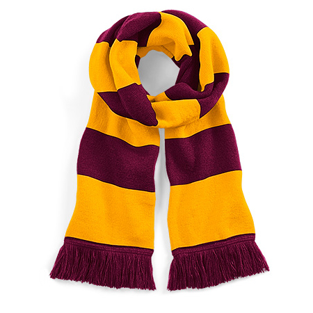 Beechfield Stadium Scarf Burgundy Yellow