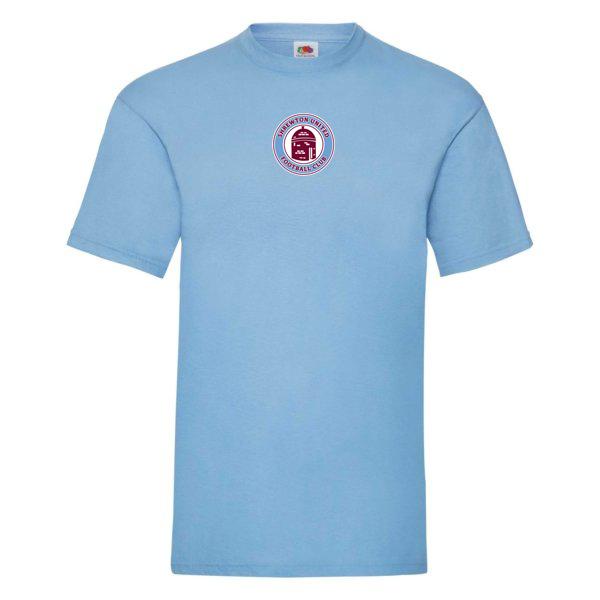 Shrewton United Fruit of Loom Valueweight T Shirt Sky