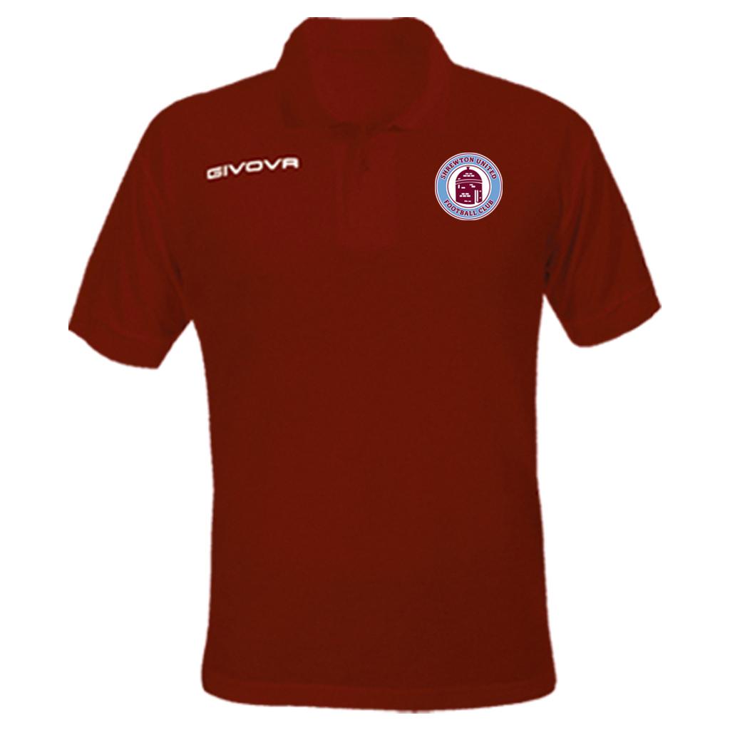 Shrewton United Givova Summer Polo Shirt Maroon